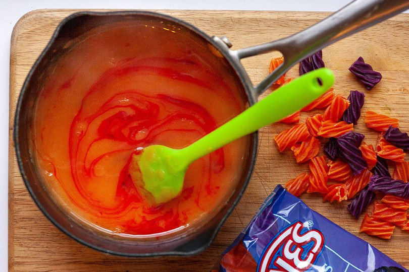 melted red vines candy