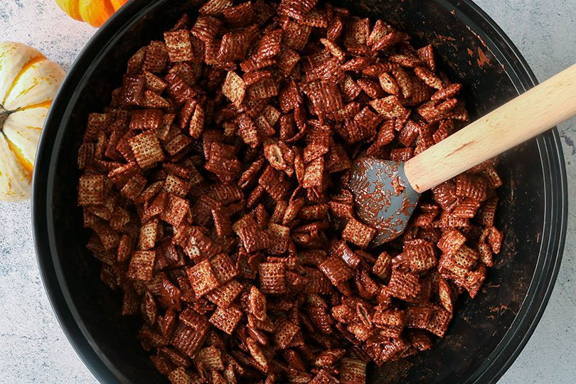 chex cereal with chocolate peanut butter