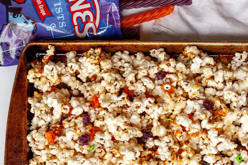 candy and popcorn salty snack mix