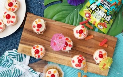 Piña Colada Cupcakes with Coconut Cream Cheese Frosting