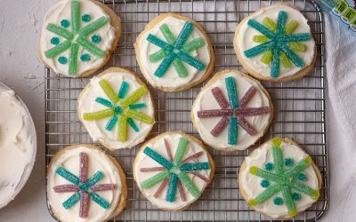 Sour Punch Snowflake Cookies