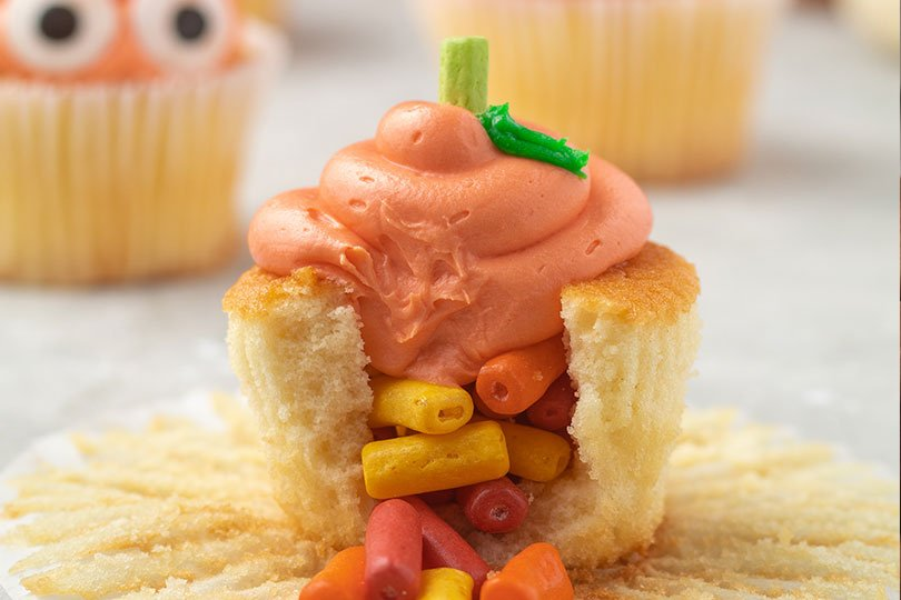 candy filled cupcake