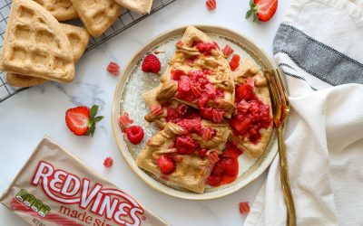 Whole Grain Waffles with Berry Compote